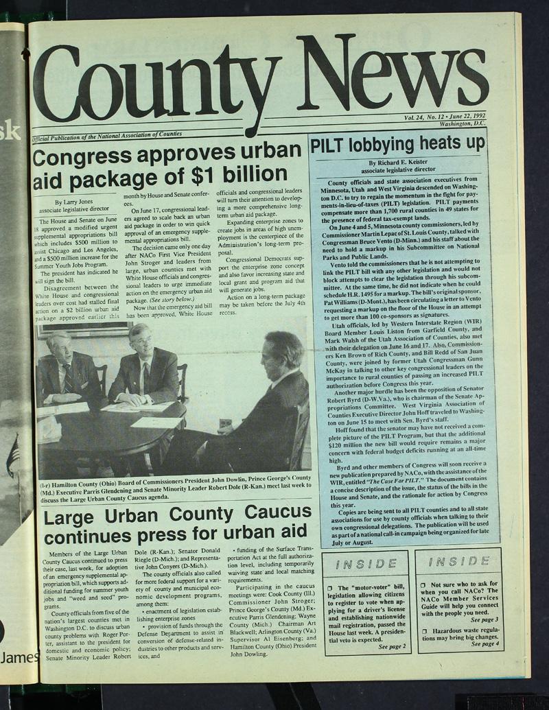 County News 6/22/1992   NACo
