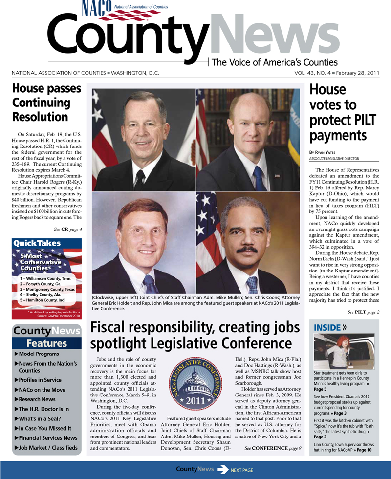 County News 02/28/2011 - Vol  43, No  4 | NACo