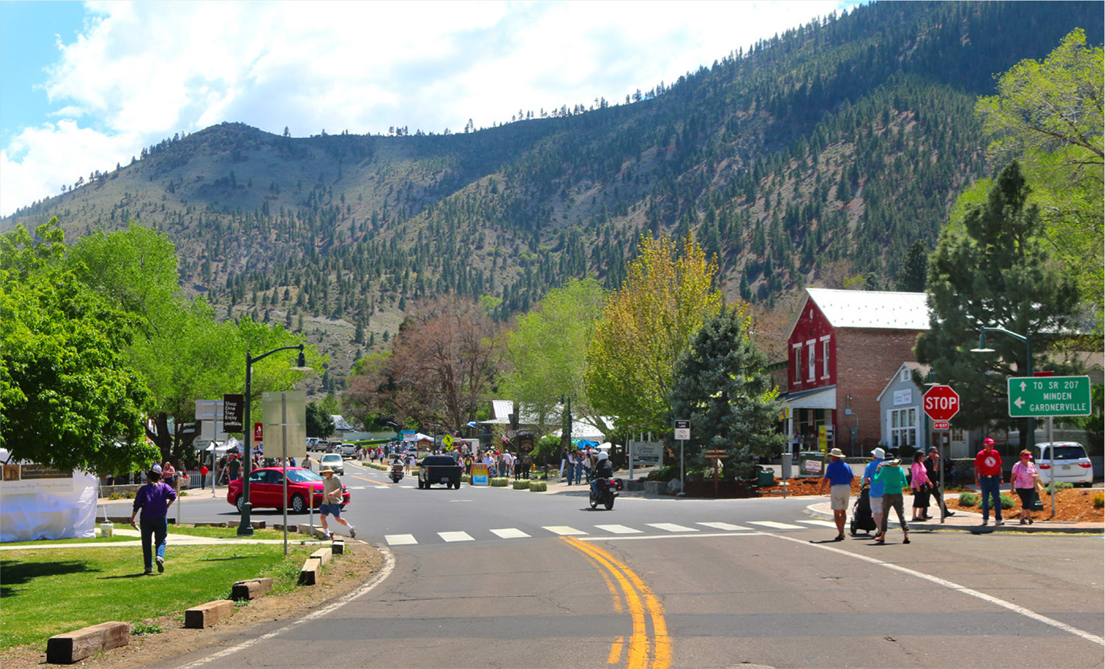 Douglas County, Nev.'s Genoa Main Street project, upon completion.