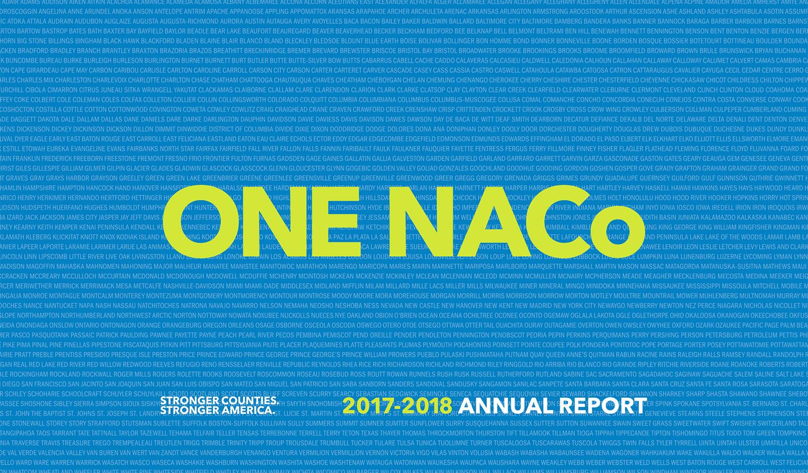 2017-2018 NACo Annual Report
