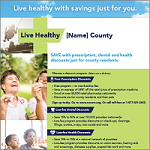 Live Healthy U.S. Counties Poster